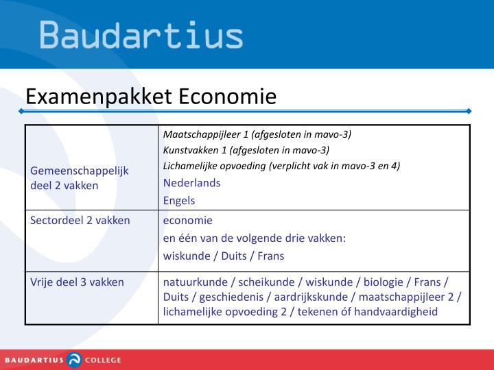 Examenpakket Economie