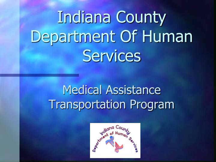Indiana county department of human services