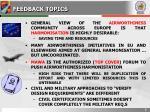 feedback topics