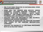 mawa reccomended action plan