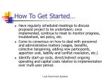 how to get started1