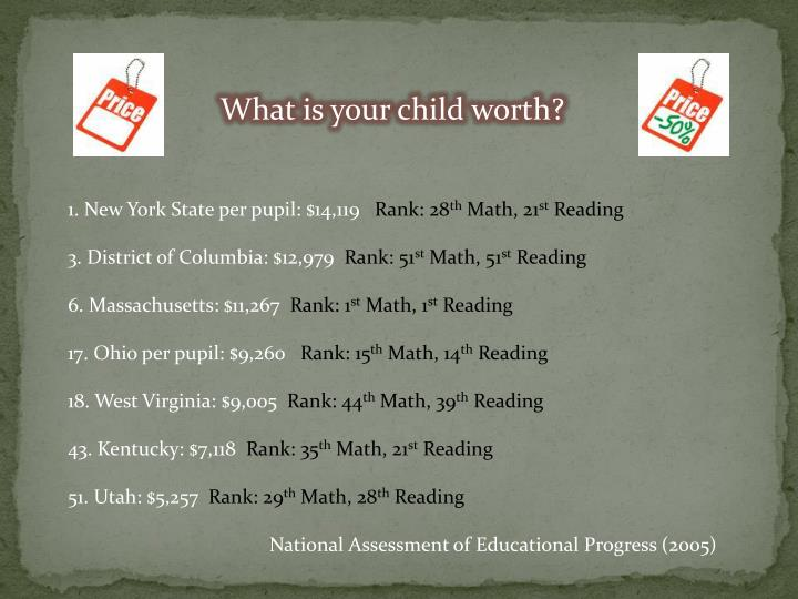 What is your child worth?