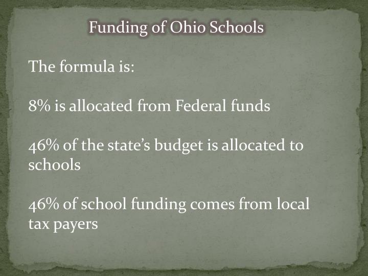 Funding of Ohio Schools