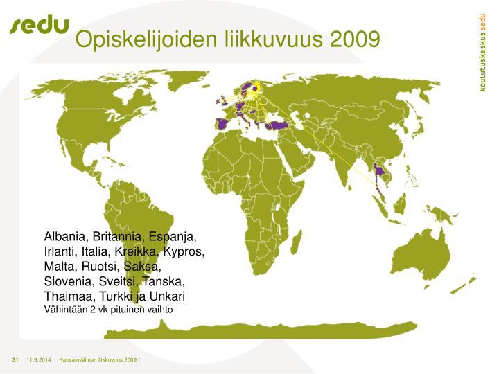 Opiskelijoiden liikkuvuus 2009