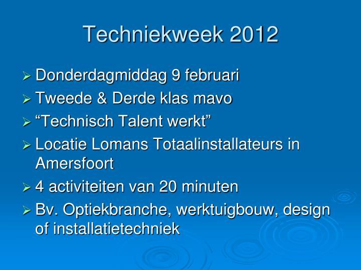 Techniekweek 2012