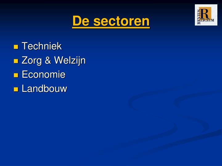 De sectoren