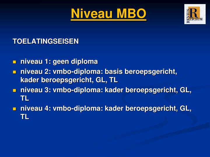 Niveau MBO