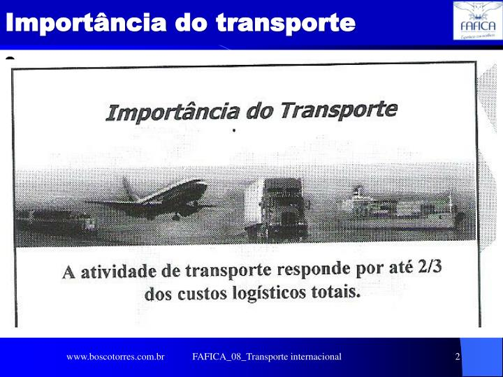 Import ncia do transporte