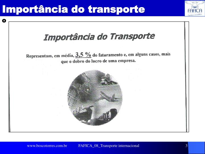 Import ncia do transporte1