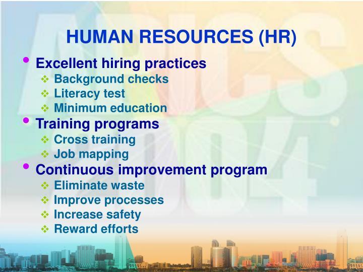 HUMAN RESOURCES (HR)