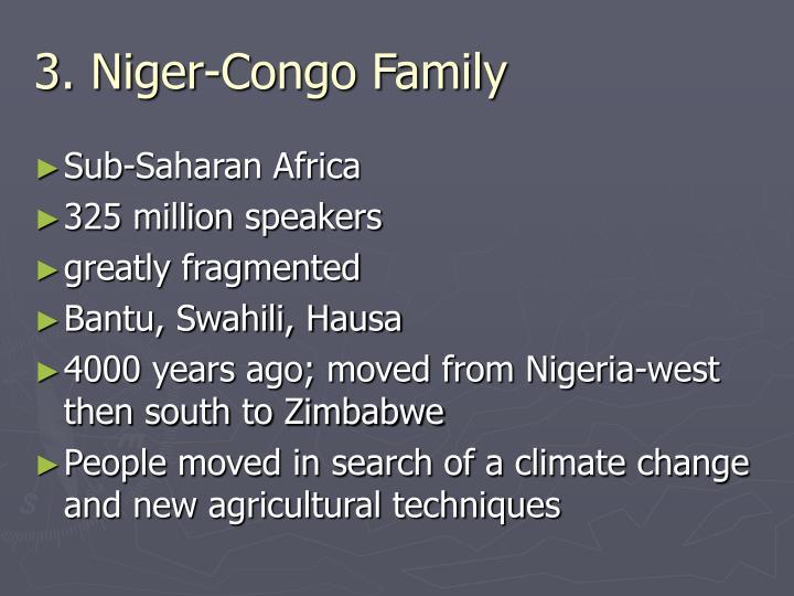 3. Niger-Congo Family