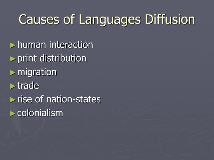Causes of Languages Diffusion