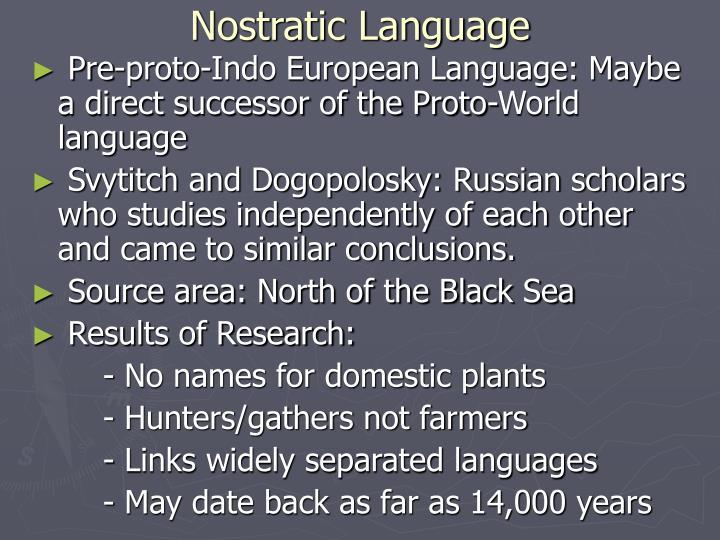 Nostratic Language
