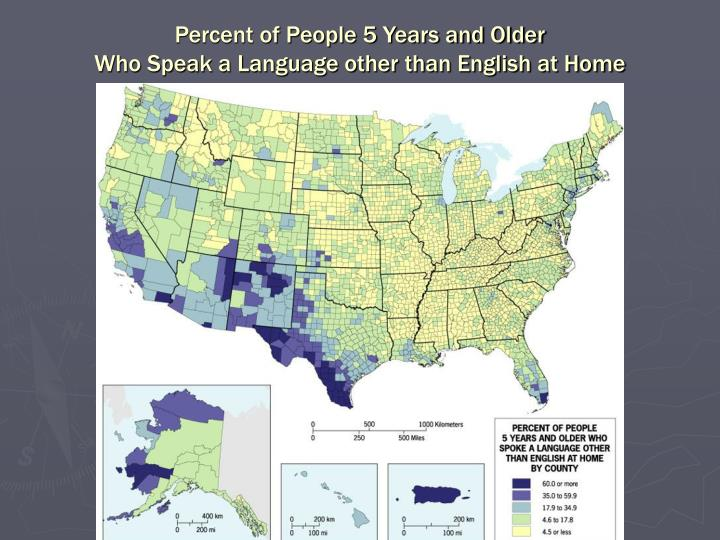 Percent of People 5 Years and Older