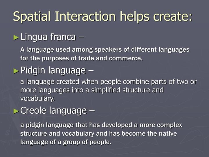 Spatial Interaction helps create:
