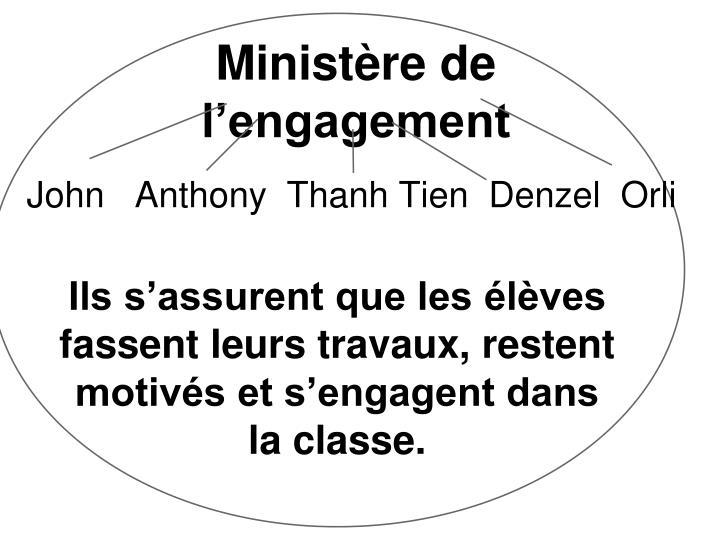 Ministère de l'engagement