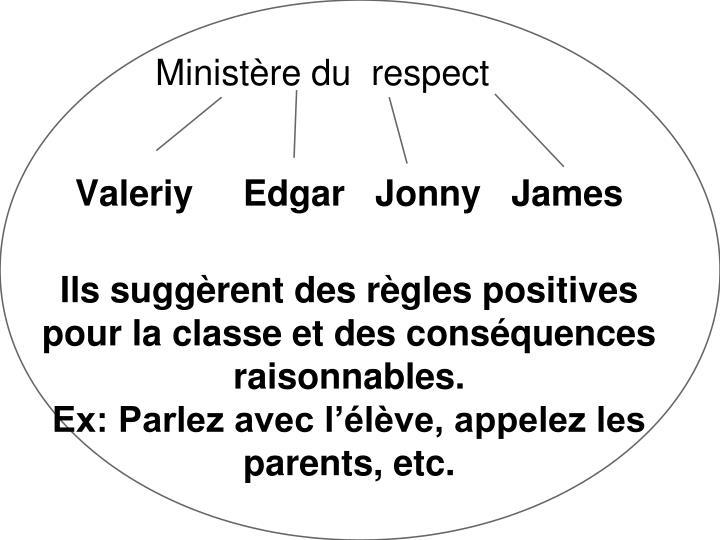 Ministère du  respect