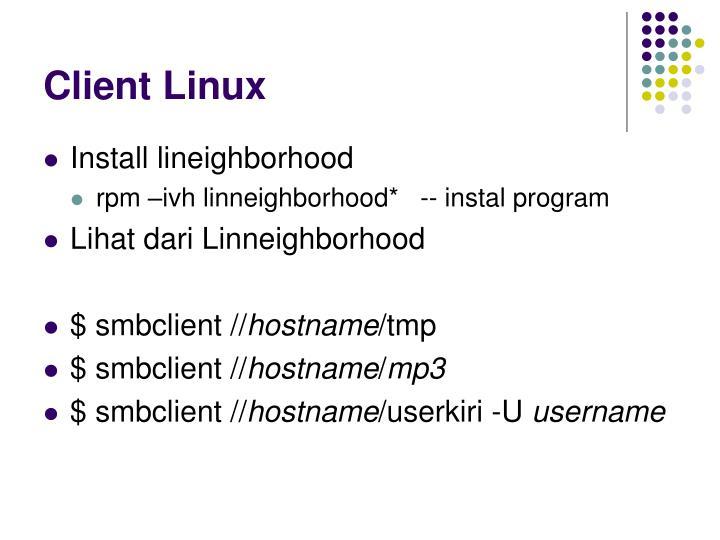 Client Linux