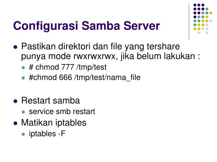 Configurasi Samba Server