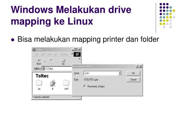 Windows Melakukan drive mapping ke Linux