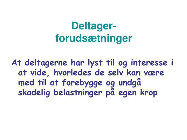 Deltager-