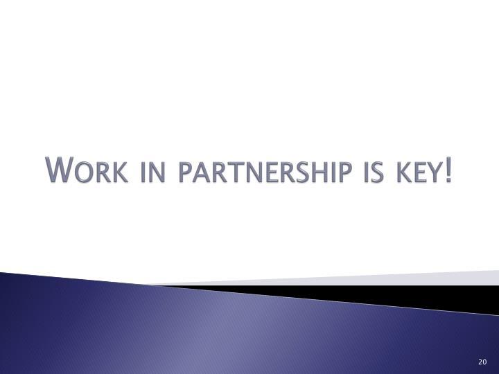 Work in partnership