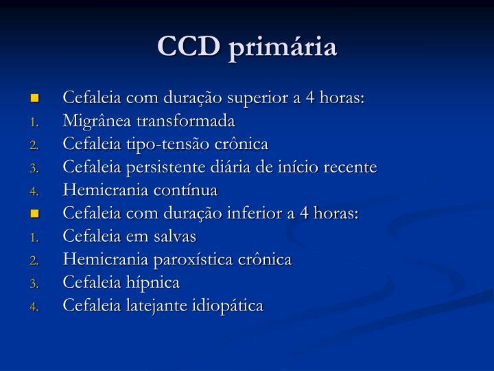 CCD primária