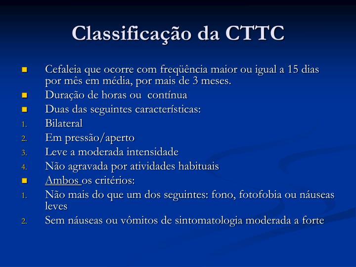 Classificação da CTTC
