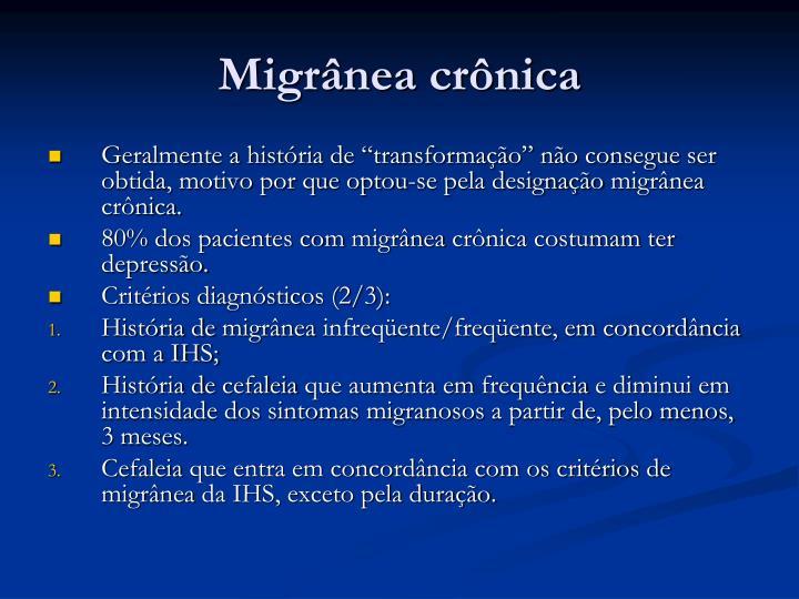 Migrânea crônica