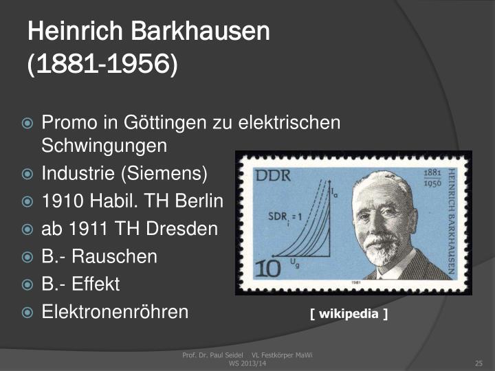 Heinrich Barkhausen