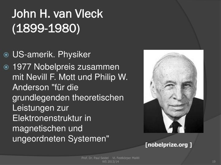 John H. van Vleck