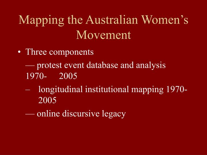 Mapping the Australian Women's Movement