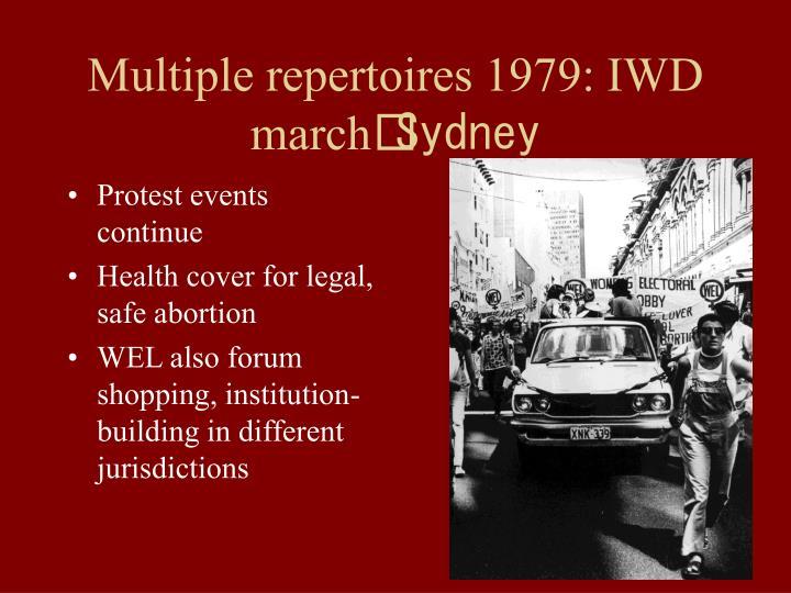 Multiple repertoires 1979: IWD march