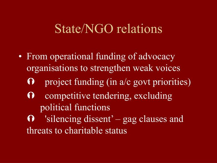 State/NGO relations