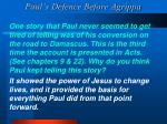 paul s defence before agrippa