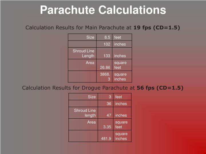 Parachute Calculations