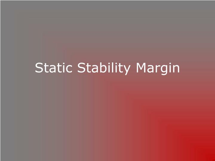 Static Stability Margin