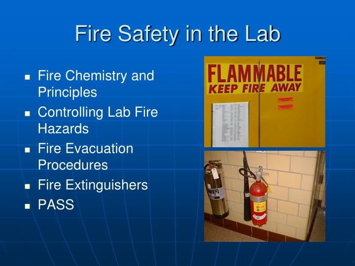Fire Safety in the Lab