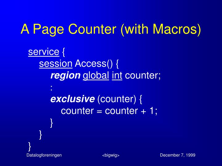 A Page Counter (with Macros)