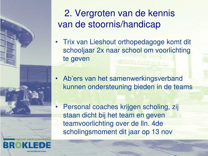 Trix van Lieshout orthopedagoge komt dit schooljaar 2x naar school om voorlichting te geven