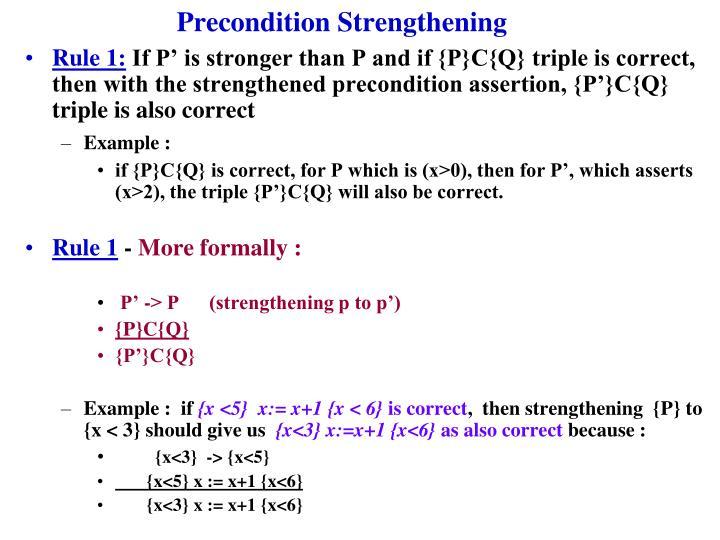 Precondition Strengthening
