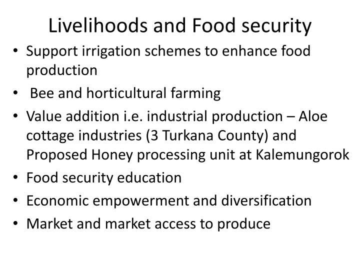 Livelihoods and Food security