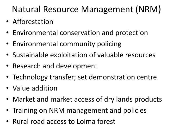 Natural Resource Management (NRM