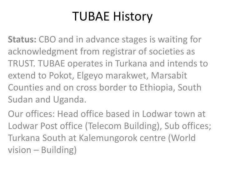 TUBAE History