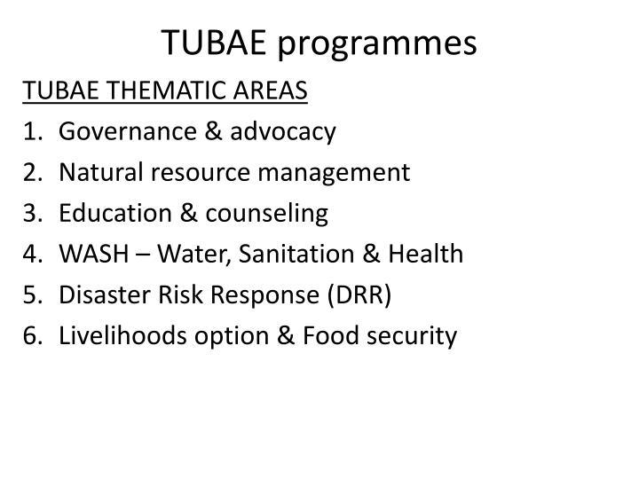 TUBAE programmes