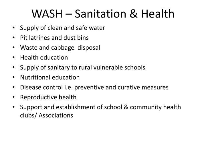 WASH – Sanitation & Health