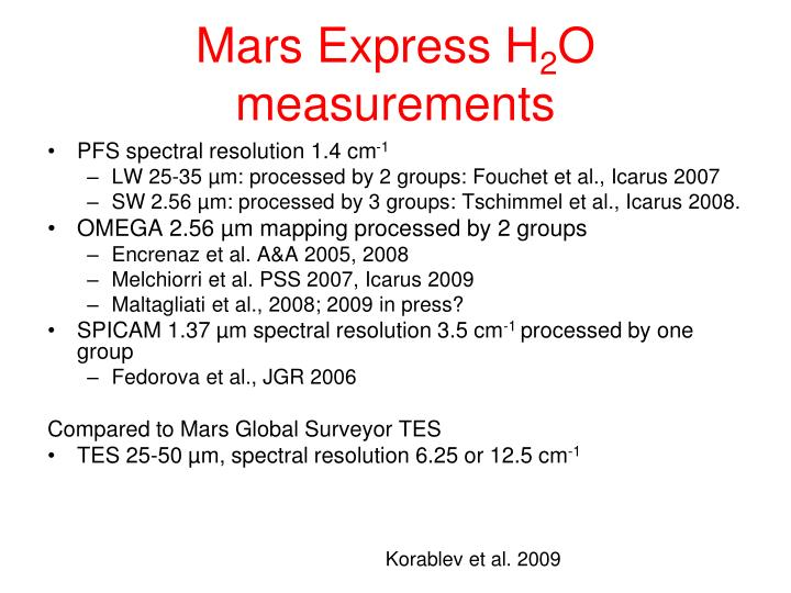 Mars Express H