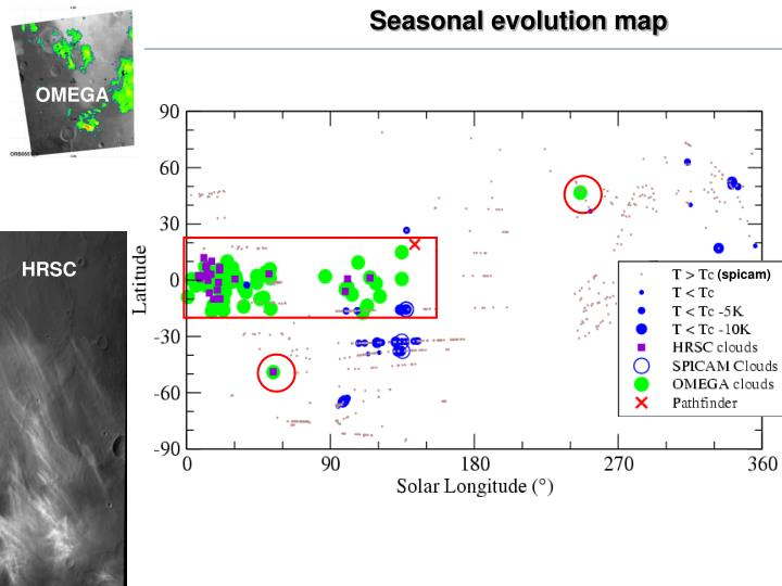 Seasonal evolution map
