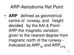 arp aerodrome ref point