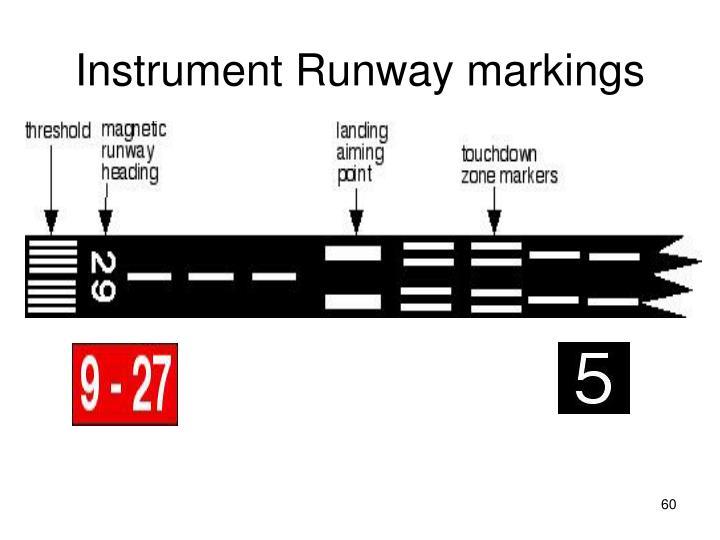 Instrument Runway markings